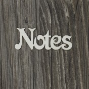 Lepenkový výrez - nápis Notes