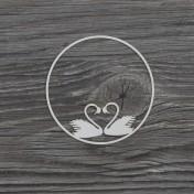 Lepenkový výrez -  labute rámik