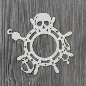 Lepenkový výrerz - pirátsky rámik