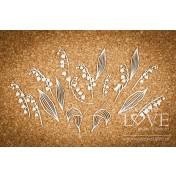 Lepenkový výrez - Lilies of the valley