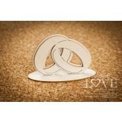 Lepenkový výrez - Wedding rings 3D