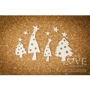 Lepenkový výrez - Christmas trees