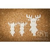 Lepenkový výrez - Reindeer