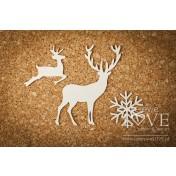 Lepenkový výrez - Reindeers