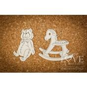 Lepenkový výrez - Teddy bear and horse