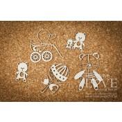 Lepenkový výrez - Toys for girl