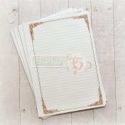 Listy do zápisníka - romantic brown