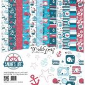 Sada papierov - Sailor life  30,5x30,5 cm