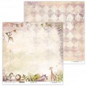 Obojstranný papier - Little Safari 01