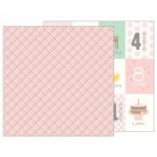 Obojstranný papier - Baby Girl Plaid