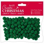 Mini Pom Poms - zelený