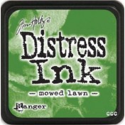 Poduška mini distress - mowed lawn