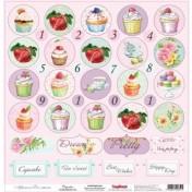 Jednostranný papier - Afternoon Tea Cupcakes