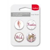 Kovové samolepiace odznaky Freedom