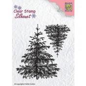 Silikónová pečiatka - Christmas fir-trees