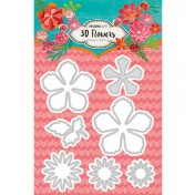 Vyrezávacia šablóna -  3D Flowers nr.94