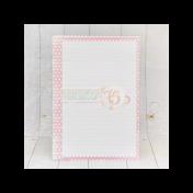 Listy do zápisníka - ružové srdcia