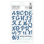 Vyrezávacia šablóna - Scrip Alphabet veľké písmená