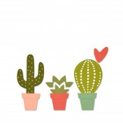 Vyrezávacia šablóna - kaktusy